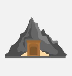 mining passageway mountain graphic vector image