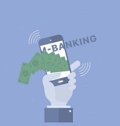 mobile banking background vector image