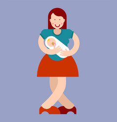 Motherhood mom and bamother and child vector