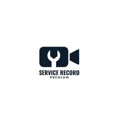 Movie or film recorder services logo design vector