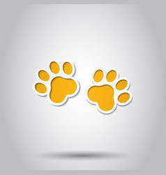Paw print animal icon on isolated background vector