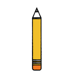 Pencil school tool object design vector