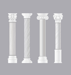 pillars ancient vector image