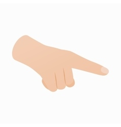 Pointing hand gesture icon isometric 3d style vector image