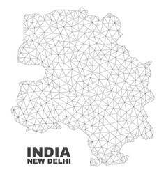 Polygonal mesh new delhi city map vector