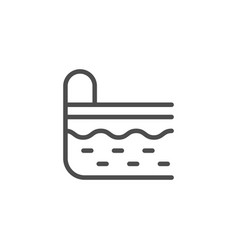 pool line icon vector image