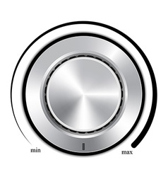 Realistic control the music volume vector image