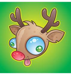 Red nose reindeer vector