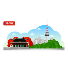 seoul travel to south korea vector image