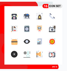 Set 16 commercial flat colors pack for shop vector