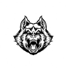 silhouette wolf clipart vector image