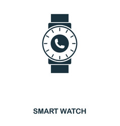 smart watch icon mobile app printing web site vector image