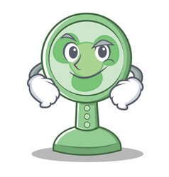 Smirking fan character cartoon style vector