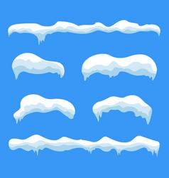 Snow ice icicle set vector