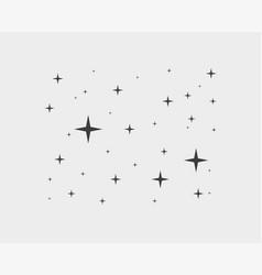 sparkles star line icons sparkle black pictograph vector image