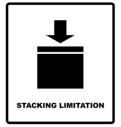 Stacking Limitation by Mass packaging vector image
