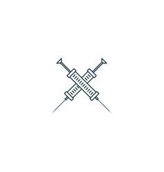 Syringe logo - minimalist icon vector