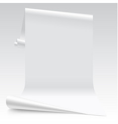 Three dimensional lit white paper sheet vector