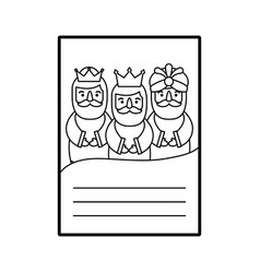 Three kings of orient letter dear wise men vector