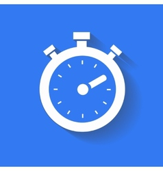Timer icon isolated white on blue background vector