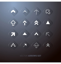 Transparent Abstract Arrows Set vector