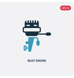 Two color boat engine icon from nautical concept vector