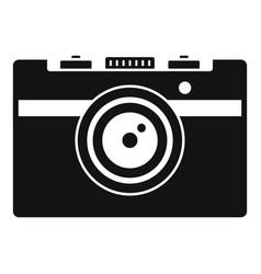 vintage camera icon simple style vector image