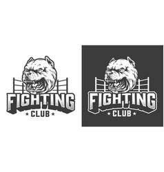 Vintage fight club print vector