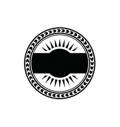 vintage retro badge blank labels logo vector image