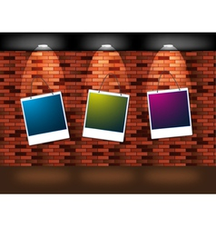 Wall and photographs vector