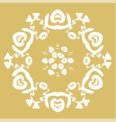 winter card snowflake pattern vector image
