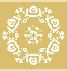Winter card snowflake pattern vector