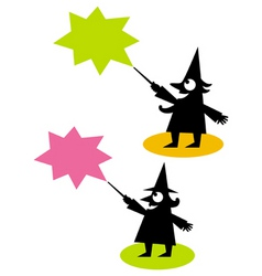 Witch and wizard vector
