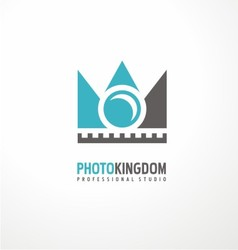 Creative logodesign concept for photography studio vector image