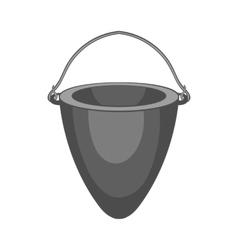 Fire bucket icon black monochrome style vector image