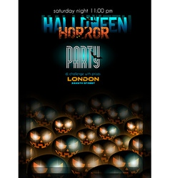 Halloween Night Event Flyer Party template vector image vector image