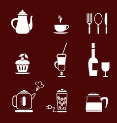 morning coffee set vector image vector image