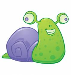 silly snail vector image vector image