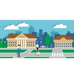 urban life vector image vector image