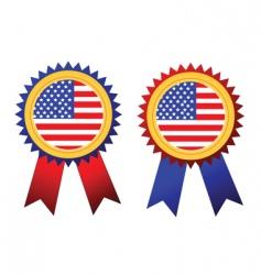 usa flag rosettes vector image