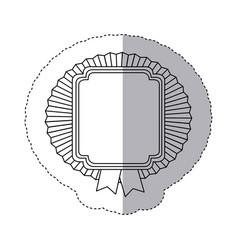 contour emblem squard border with ribbon icon vector image vector image