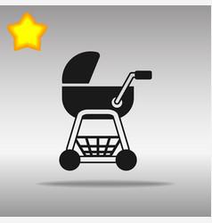 stroller black icon button logo symbol concept vector image