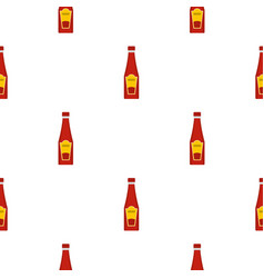 traditional tomato ketchup bottle pattern seamless vector image