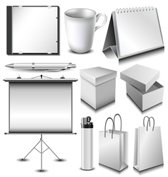 Blank corporate identity object set vector image
