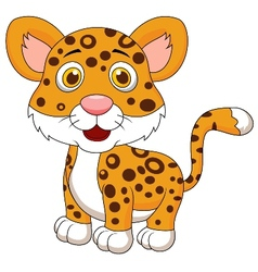 Cute baby jaguar cartoon vector image vector image