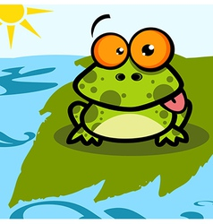 Frog Cartoon Character vector image vector image