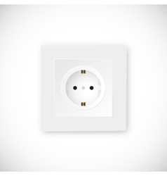 Realistic Socket Template vector image