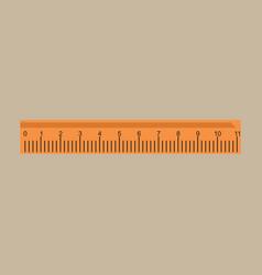 ruler icon ruler symbol flat vector image