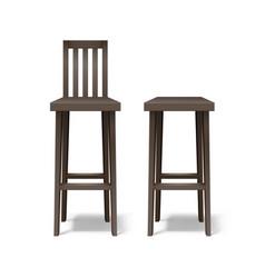 two bar stools vector image
