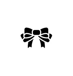 bow icon black sign on vector image vector image